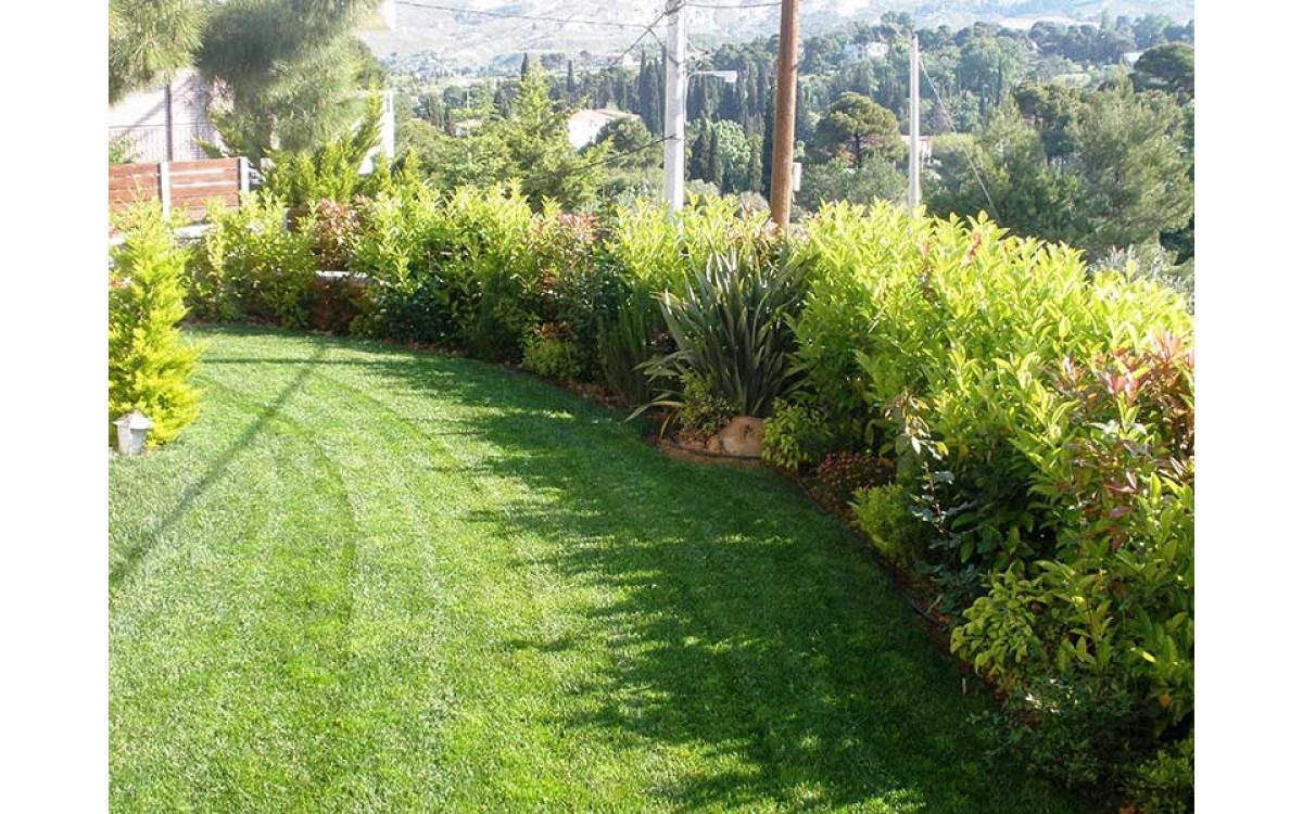 Κατασκευή κήπου με χλοοτάπητα