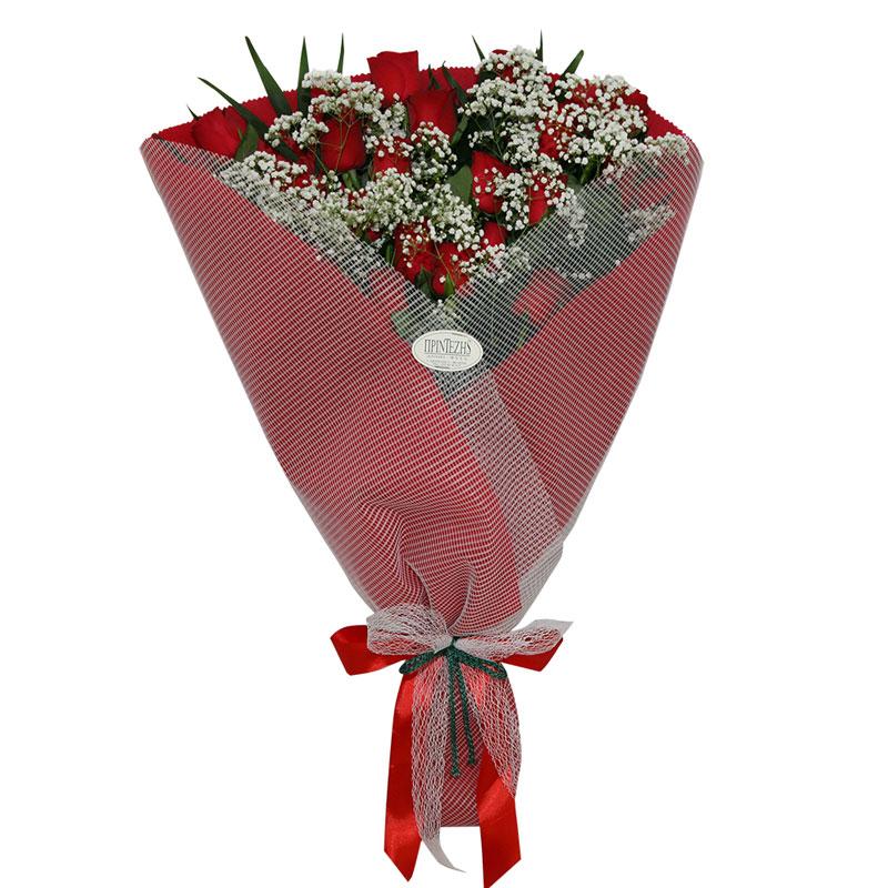 Ανθοδέσμη με τριαντάφυλλα